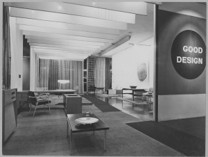 "Installation view of the exhibtion ""Good Design"" The Museum of Modern Art, November 27, 1951 through January 27, 1952 The Museum of Modern Art Archives, New York. Photo by Soichi Sunami"