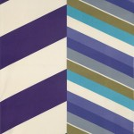 Chevron: purple, teal and olive fabric sample