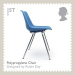 Commemorative British stamp of Robin Day's chair design